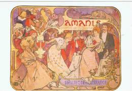 Themes:illustrateurs  Cpm .alphonse Mucha.amants 1895 - Mucha, Alphonse