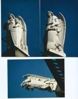 """Photo- RELIGION-Lot,ensemble De 3 PHOTOS """"Bendecid Al Dios Del Cielo,y Glorificadle (Bible Tobie 12,6 Statues Ange Anges - Photos"""