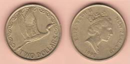 MONETA DA 2 DOLLARI DEL 1990 DELLA NUOVA ZELANDA COME DA IMMAGINE - Nouvelle-Zélande