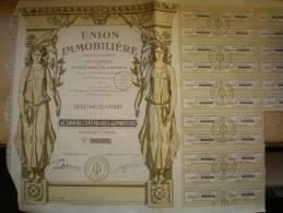 - UNION IMMOBILIERE - ACTION DE 100 FRANCS - - Actions & Titres