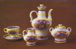 Russia Leningrad Coffee Set Russian Field 1973 Museum Of The Lomonosov Porcelain Factory - Porcelaine