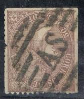 Sello 50 Mils Isabel II 1868, Parrilla AS De Santiago (Coruña), Num 98 º - 1850-68 Kingdom: Isabella II