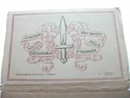 Cimitero Militare Di Redipuglia Agli Invitti Della 3° Armata Rotocalcografia Civicchioni Chiavari II° Serie 15 Cartoline - Cimetières Militaires