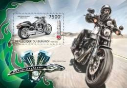 bur12709b Burundi 2012 Transport s/s Harley Davidson motorbike