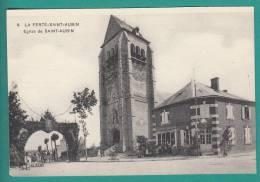 45 - La Ferte-Saint-Aubin  -  Eglise De Saint-Aubin - Jour De Fête , Commerce épicerie Rouennerie, Animée - La Ferte Saint Aubin