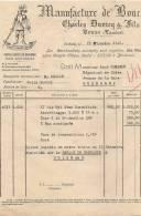 40  TOSSE FACTURE + TRAITE  MANUFACTURE DE BOUCHONS CHARLES DUVICQ ET FILS  1946 - France