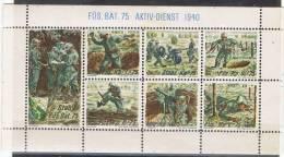 FP 226 - FELDPOST Infanterie Stab. Füs. Bat. 75 Bloc De 7 Val. Diff. Neuf ** - Vignettes