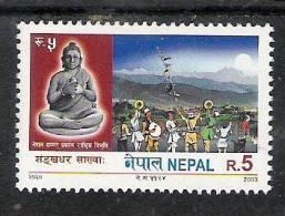 NEPAL 2003  Shankar  Dahr Sakhwa,. Yvert 739 ;1 Value, Religion, Buddhism, Buddha,  MNH(**) - Buddhism