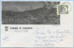 1984 FRIULI PROVINCIA UDINE BELLA BUSTA ILLUSTRATA COMUNE DI TARCENTO 15.2.84 AFFRANCATA CASTELLI L.400 ISOLATO (5375) - 6. 1946-.. Repubblica