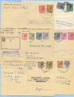 1959/1981 INTERI POSTALI USATI COME AVVISI RICEVIMENTO 6 DIFFERENTI RARA LA TARIFFA RIDOTTA CON GEMELLI (A115) - 6. 1946-.. Repubblica