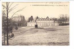Carte De  Carrières Sous Bois  Le Château Du Val  ( Recto Verso ) état Très Moyen - Frankreich