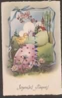 JOYEUSES PAQUES--Poussin Sur Un Oeuf--Eglise---illustrateur BARNINI - Easter