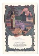 """Grand Chromo, édité Par La PHOSPHATINE FALIÈRES / Fable De La Fontaine """"LE CHÊNE ET LE ROSEAU"""", Par L. CHALON - Chromos"""
