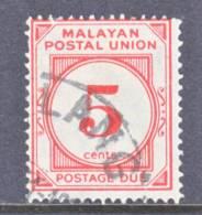 Malayan  Postal  Union  J 15  (o)  1945-9  Issue - Malayan Postal Union