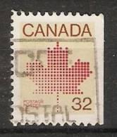 Canada  1982-83  Canadian Maple Leaf Emblem   (o) - Einzelmarken