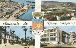 Bone Souvenir Multi Vues  Stadium  Algerie,emblem, Old  Postcard - Annaba (Bône)