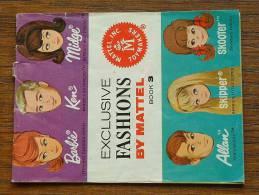 EXCLUSIVE FASHIONS By MATTEL - LIVRET PUBLICITAIRE MATTEL 1964 - BOOK 3 ( RARE A Trouver ) / Zie Foto´s Voor Détail ! - Barbie