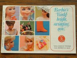 BARBIE'S WORLD BRIGHT SWINGING NOW By MATTEL - LIVRET PUBLICITAIRE 1968 ( RARE A Trouver ) / Zie Foto´s Voor Détail ! - Barbie