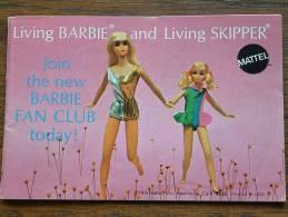 Living BARBIE And Living SKIPPER By MATTEL - LIVRET PUBLICITAIRE 1970 ( RARE A Trouver ) / Zie Foto´s Voor Détail ! - Barbie
