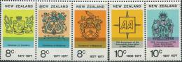 AS1868 New Zealand 1977 City Emblem 5v MNH - Timbres