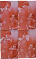 Serie De 4 Cp Surrealisme Gros Coeur Angelo Couple Set Of 4 Cards - Fantaisies