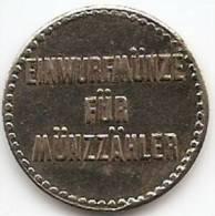EIN WURF MÜNZE FÜR MÜNZZÄHLER-GERMANY;TOKEN; JETON; GETTONE;FLAT EDGES,NICE GRADE-A COIN TOSS FOR  COINMETER - Other