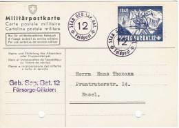 FP 235 - FELDPOST Sappeure / Sappeurs GEB. SAP. BAT. 12  Sur Carte Postale Militaire Et Vignette Neuve - Documents
