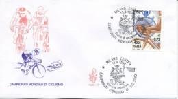 ITALIA - FDC  VENETIA 1999 - MONDIALI DI CICLISMO - SPORT -  ANNULLO SPECIALE - 6. 1946-.. Repubblica
