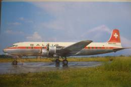 DC 6B   BALAIR    HB IBZ     BASLE AIRPORT - 1946-....: Moderne