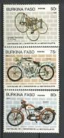 "Burkina YT 653 à 655 "" Série Motocyclette, 3 TP "" 1985 Neuf ** - Burkina Faso (1984-...)"