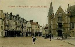 CPA   -ETAMPES   - L ' HOTEL DES POSTES   ET PLACE DE L 'HOTEL DE VILLE      Animée   L863 - Etampes