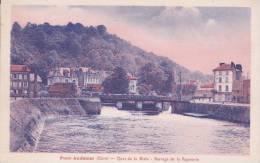 CPA 27 PONT-AUDEMER ,Quai De La Risle. Barrage De La Papeterie. - Pont Audemer