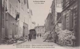 CHALONS SUR MARNE-Maison éventrée Rue De La Gravière Dép51(animée Cariole Cheval Ciclyste Au Fond S/la Maison ANNEXE DE? - Châlons-sur-Marne