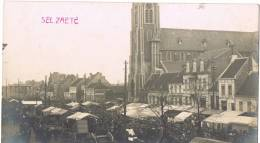 "FOTOKAART (!!!) SELZAETE / ZELZATE (regio Gent, Evergem, Assenede) ""Le Marché De Selzaete"" - Zelzate"