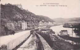 CPA 46  MERCUES ,le Château Et La Vallée Du LOT. - France