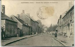 Cpa Hartennes -Grande Rue (direction De Soissons) / Assez Rare . - France