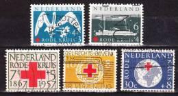 1957 Rode Kruis Zegels Gestempelde Serie NVPH 695 / 699 - Used Stamps
