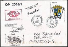 "ANTARCTIC,TAAF, CROZET,9.11.2006, M/V "" M.DUFRESNE ""'OP 2006/3, Réallsation D'un Film+ HELI , Look Scan - Polare Shiffe & Eisbrecher"