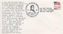 USA -     VICTORIA  CLAFLIN  WOODHULL  -  National Women's Suffrage Convention - Vereine & Verbände