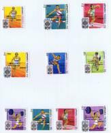 1968  Jeux Olympiques De Mexico Sauts, Course, Haltérophilie, Cyclisme  Noms Des Champions Michel 292-301 Bloc EB9A * - Fujeira