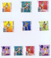 1968  Jeux Olympiques De Mexico Sauts, Course, Haltérophilie, Cyclisme Michel 266-75 Bloc B9A * - Fujeira
