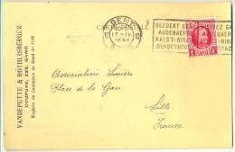 1p607: Drukwerkkaart: N° 256: 10 GENT 10 GAND 1930 > Lille, (Nord) F. Met Fiskale Zegel 0.20 - 1922-1927 Houyoux