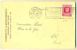 1p608: Drukwerkkaart: N° 256: 10 GENT 10 GAND 1930 > Lille, (Nord) F. Met Fiskale Zegel 0.20 - 1922-1927 Houyoux