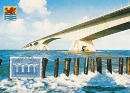 D11729 CARTE MAXIMUM CARD FD 1984 NETHERLANDS - ZEELAND BRIDGE ZIERIKZEE CP ORIGINAL - 1984