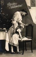 Weihnachten, Mutter Mit Kind, Christbaum, Foto-AK, 1911 - Noël