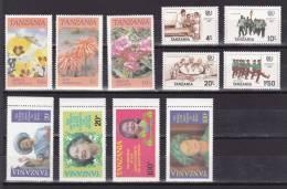 Tanzania Mixes Set Of 11 Stamps Mint  (A035) - Tansania (1964-...)