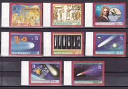 Montserrat Set Of 8 Stamps Halley´s Comet 1986 Mint  (A037) - Montserrat