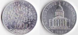 """SUPERBE---PIECE 100 FRANCS ARGENT 1984 """"Pantheon""""---ETAT : SUP+ - France"""