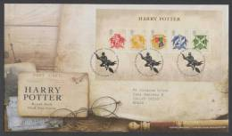 GB - UK (2007) Yv. Bf. 49 - FDC -  /  Harry Potter - Cinema - Cinéma