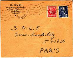 LRI 076+719B Flamme Bergerac Paris - Marcophilie (Lettres)